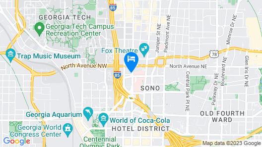 Crowne Plaza Atlanta - Midtown, an IHG Hotel Map