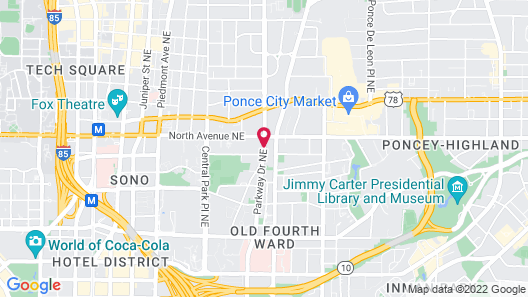 The Ponce Hotel Map
