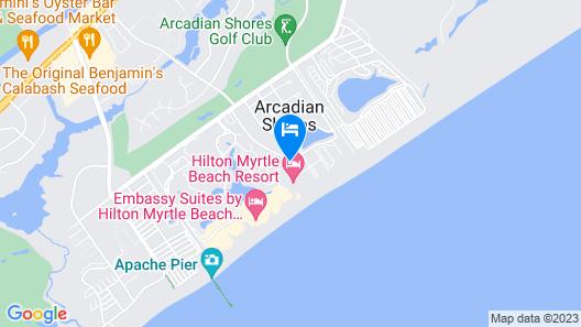 Hilton Myrtle Beach Resort Map