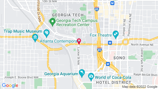 Hampton Inn Atlanta-Georgia Tech-Downtown Map