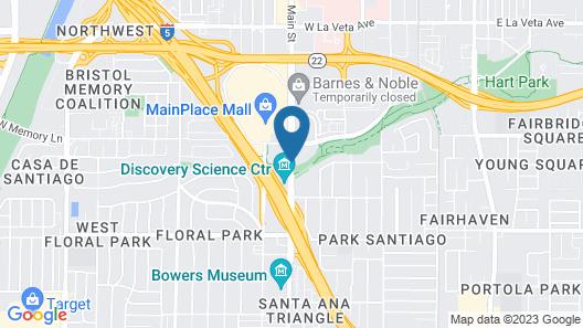 Red Roof Inn Santa Ana Map