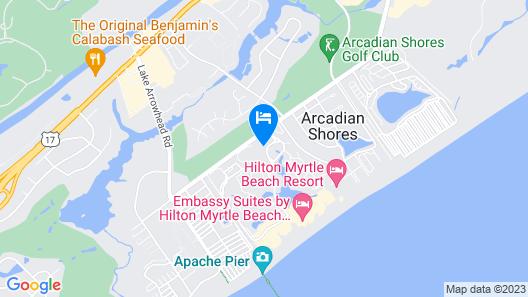 Palmetto Vacation Rentals at Kingston Plantation Map