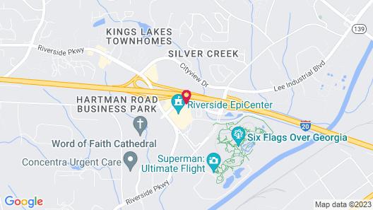 Rodeway Inn At Six Flags Map