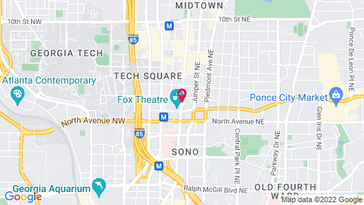 Hotel Indigo Atlanta Midtown Map