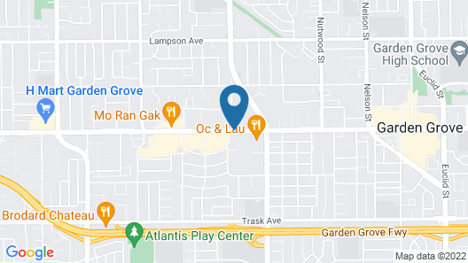 Ramada Plaza by Wyndham Garden Grove/Anaheim South Map