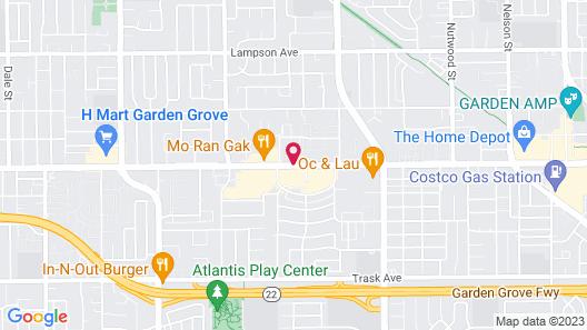 National Inn Garden Grove Map