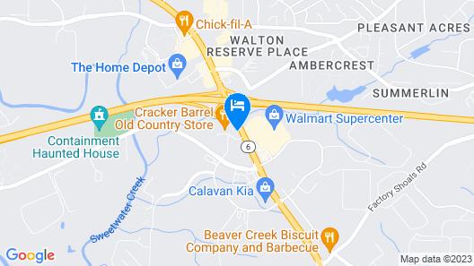 Comfort Inn & Suites near Six Flags Map