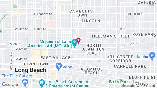 Long Beach Motel Map