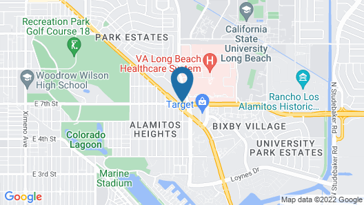 Motel 6 Long Beach, CA - Los Angeles Map