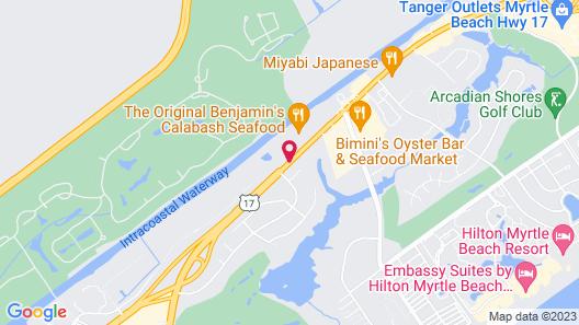 Best Western Plus Myrtle Beach @ Intracoastal Map