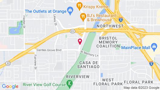 Best Western Plus Meridian Inn & Suites, Anaheim-Orange Map
