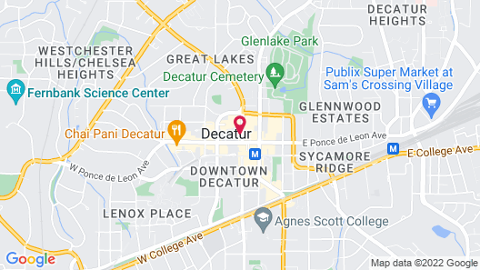 Hampton Inn & Suites Atlanta Decatur/Emory Map