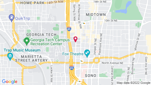 Georgia Tech Hotel and Conference Center Map