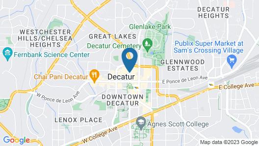 Courtyard Atlanta Decatur Downtown/Emory Map