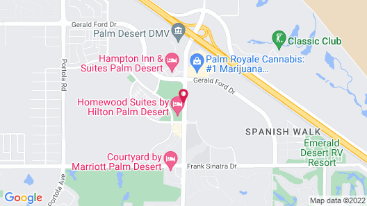 Homewood Suites by Hilton Palm Desert Map