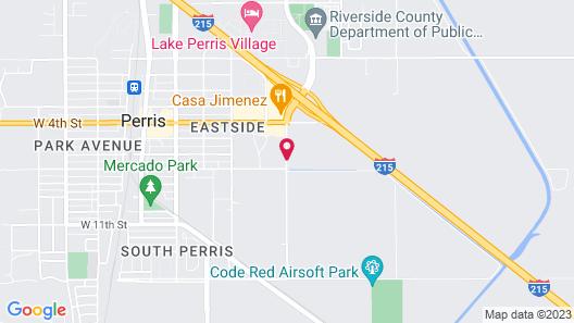 Red Lion Inn & Suites Perris Map