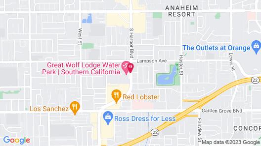 Great Wolf Lodge Anaheim, CA Map