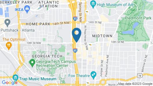 Homewood Suites by Hilton Atlanta Midtown, GA Map