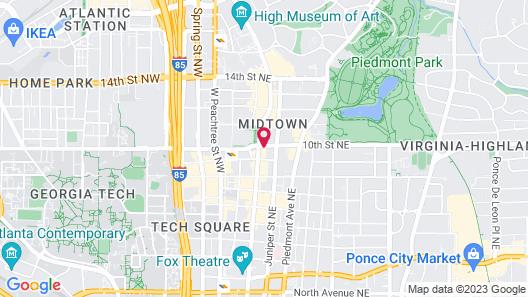 Hyatt Centric Midtown Atlanta Map