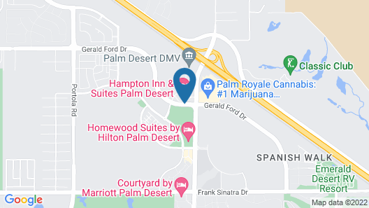 Hampton Inn & Suites Palm Desert Map