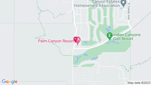 Palm Canyon Resort by Diamond Resorts Map