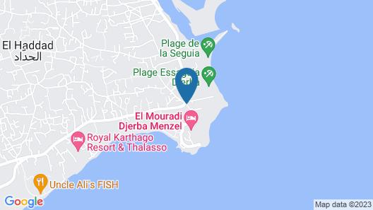 El Mouradi Djerba Menzel Map