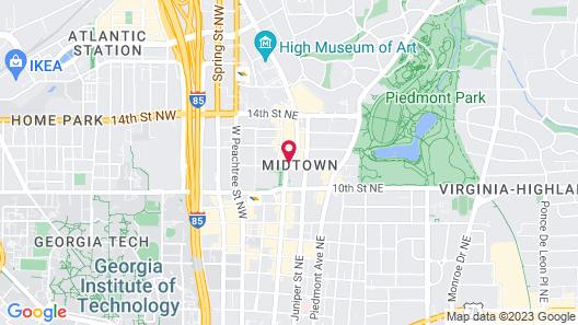 Loews Atlanta Hotel Map