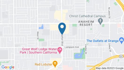 Sheraton Garden Grove-Anaheim South Hotel Map