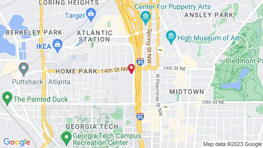 Sonesta Select Atlanta Midtown Map