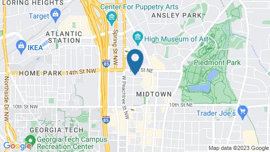 Moxy Atlanta Midtown Map