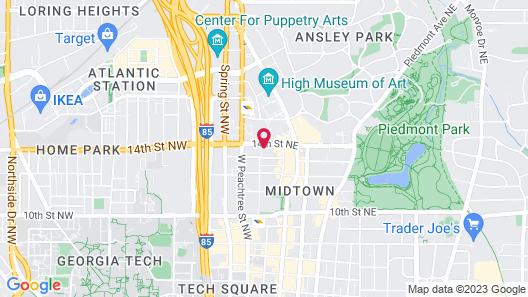 AC Hotel by Marriott Atlanta Midtown Map