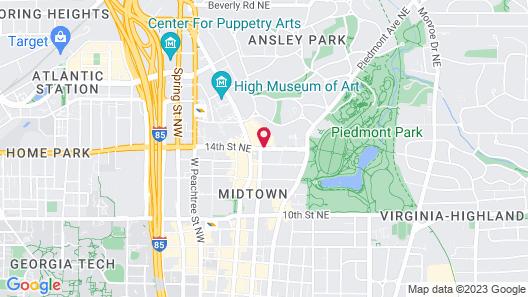 W Atlanta Midtown Map