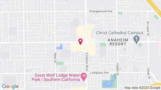 Anaheim Marriott Suites Map