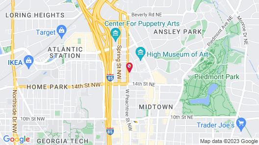 Hampton Inn & Suites Atlanta-Midtown, GA Map