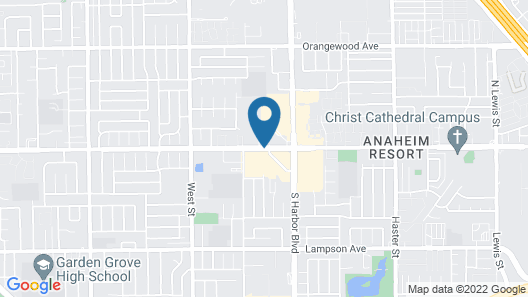 Homewood Suites by Hilton Anaheim-Main Gate Area Map