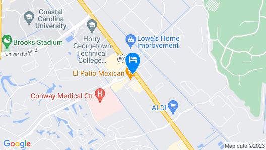 Econo Lodge at the University Map