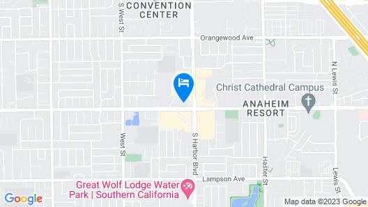 Hyatt Regency Orange County Map