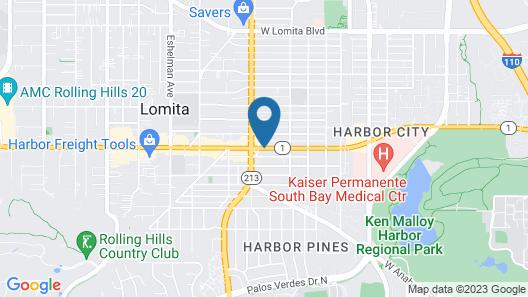 Rodeway Inn & Suites Pacific Coast Highway Map