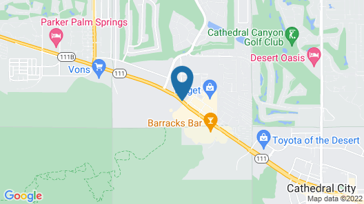 Travelodge by Wyndham Cathedral City Map