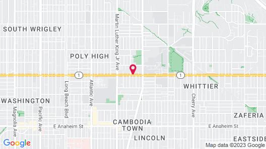 Motel 6 Long Beach, CA - International City Map
