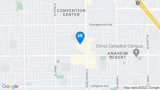 Embassy Suites by Hilton Anaheim South Map