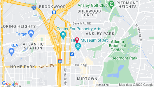 Residence Inn by Marriott Atlanta Midtown/Peachtree at 17th Map