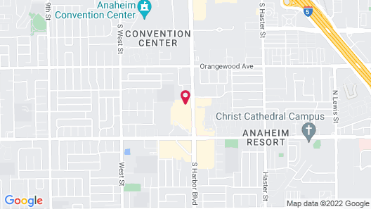 Hampton Inn & Suites Anaheim Garden Grove Map