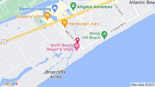 Cottages at North Beach Resort & Villas Map
