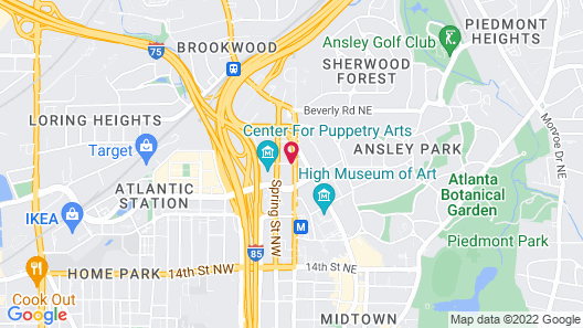 Canopy by Hilton Atlanta Midtown Map