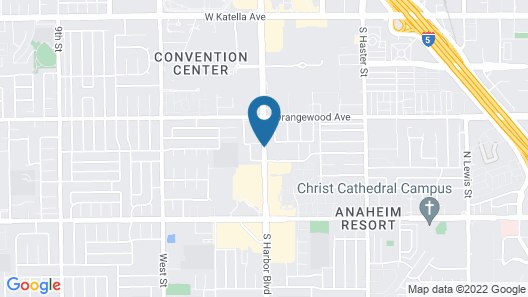 Stanford Inn & Suites Anaheim Map