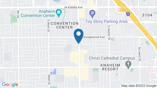 Motel 6 Anaheim, CA - Convention Center Map