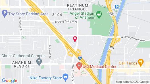 Embassy Suites by Hilton Anaheim Orange Map