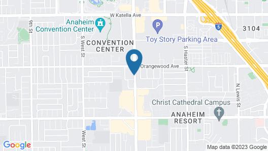 Capri Suites Anaheim Map