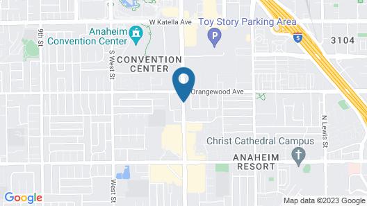 Anaheim Carriage Inn Map